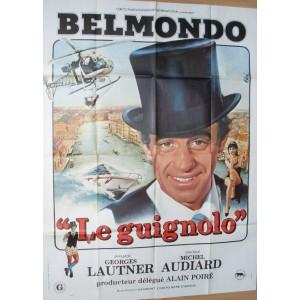 Le Guignolo - Lautner - Audiard - Belmondo - Affiche du film