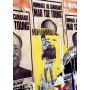 Photo-Affiches Mao Tse Toung- Mohamed Ali sur un mur Parisien