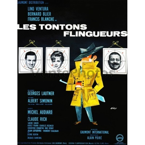 Très Photographie de l'affiche des Tontons Flingueurs - Ventephotos MR23