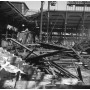 Paris les Halles destruction des pavillons Baltard 1971