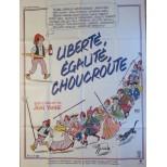 Affiche du film - Liberté,Egalité,Choucroute - Jean Yanne-Michel Serrault-Jean Poiret-Ursula Andress