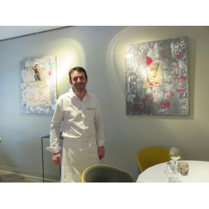JACQUES FAUSSAT chef dans son restaurant étoilé la BRAISIERE