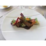 Cigare d'épaule d'agneau crémeux de topinambours carottes fanes de MICKAËL MEZIANE chef de LA PASSERELLE