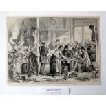 Une cantine municipale pendant le siège de Paris (1870/1871)